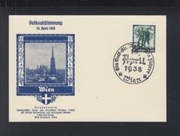 Dt. Reich PK Volksabstimmung Wien 1938 - Storia Postale