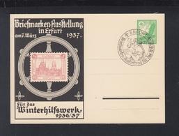 Dt. Reich GSK Briefmarken-Ausstellung Erfurt WHW 1936/37 - Ganzsachen
