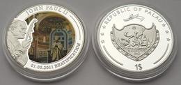 POPE JOHN PAUL - II - BEATIFICATION - REPUBLIC OF PALAU -1 DOLLAR SILVER - Palau
