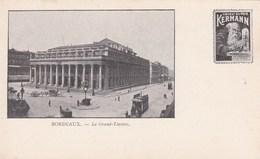 BORDEAUX - GIRONDE - (33)  -  PEU COURANTE CPA PRECURSEUR - PUBLICITÉ KERMANN - LIQUEUR. - Bordeaux
