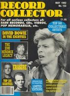 REVUE ANGLAISE RECORD COLLECTOR N° 153  De 1992  : DAVID BOWIE    ETC ........... - Objets Dérivés