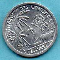 (r65)  COMORES  2 Francs 1964  French Colonie KM#5  Unc-neuve - Comoros