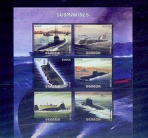 Uganda / 2016 Submarines S/s /MNH.good Condition - Cars