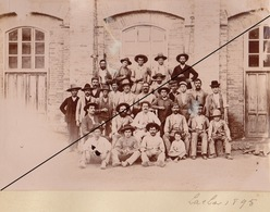 Foto Espana Espagne 1894 Grupo Fabrica Lachar Granada Andalucia Album El Duque De San Pedro De Galatino Azucarera - Lieux