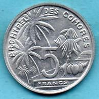 (r65)  COMORES  5 Francs 1964  French Colonie KM#6  Unc-neuve - Comoros