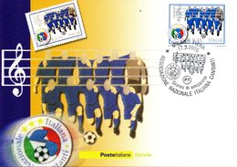 ITALIA 2006 NAZIONALE ITALIANA CANTANTI  FIRST DAY CARD - FDC
