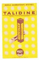 """Publicité Médicale - """" TALIDINE """" Sulfamidé Intestinal - Midy - Pharmacie, Médicament, Médecine,... (fr58) - Publicités"""
