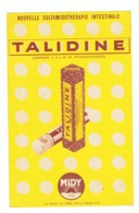 "Publicité Médicale - "" TALIDINE "" Sulfamidé Intestinal - Midy - Pharmacie, Médicament, Médecine,... (fr58) - Advertising"
