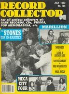 REVUE ANGLAISE RECORD COLLECTOR N° 155  De 1992  : STONES    ETC ........... - Objets Dérivés