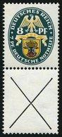 ZUSAMMENDRUCKE S 54 *, 1928, Nothilfe 8 + X, Falzrest, Pracht, Mi. 270.- - Zusammendrucke