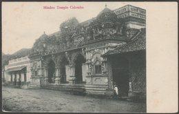 Hindoo Temple, Colombo, Ceylon, C.1900s - U/B Postcard - Sri Lanka (Ceylon)