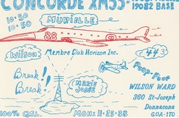 Concorde XM55-19081 Mobile  XM55-19082 Base Wilson Ward, Donnacona, Quebec Membre Club Horizon Inc. - CB