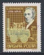 "Hungary Ungarn 1981 Mi 3502 A ** Georg Stephenson (1781-1848) Railway Pioneer + ""Locomotion No. 1"" / Eisenbahn - Treinen"