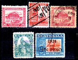 Guatemala-0086 - Emissione 1924 (+/o) Hinged/Used - - Guatemala