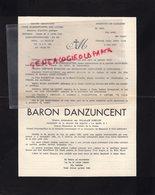 87- LIMOGES- FAIRE PART DECES SPORTING ROMANET- GRAND SEMINAIRE POUR COMBATTANTS DES LITRES-BARON DANZUNCENT - Décès