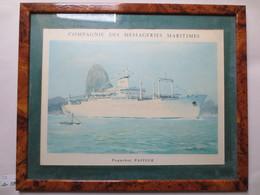 Compagnie Des Messageries Maritimes - Paquebot Pasteur  - Gravure D'après Gouache Roger Chapelet  - TBE - - Boats