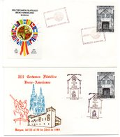2 Cartas   Con Matasellos Commemorativo Certamen Iberoamericano De Burgos De 1989 - 1931-Hoy: 2ª República - ... Juan Carlos I