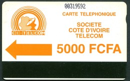 CI-CIT-0011 Autelca Green Logo 5000 FCFA - Notched - Ivory Coast