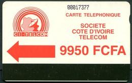 CI-CIT-0012 Autelca Green Logo 9950 FCFA - Notched - Ivory Coast
