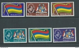 Mauritius 1968 Independence Bird Coat Of Arms & Map Set Of 6 MNH - Mauritius (1968-...)