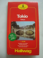 TOKIO / TOKYO CITY MAP - JAPAN, HALLWAG, 1986. SCALE 1:26.500. - Maps