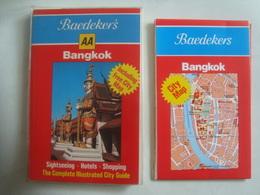 BAEDEKER'S BANGKOK. INCLUDING FREE CITY MAP. SIGHTSEEING. HOTELS. SHOPPING - THAILAND, 1987. - Maps