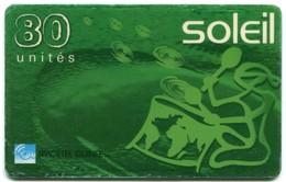 Spacetel Guinee - Mobile Recharge Soleil - Green 80 Units (Hard Plastic) - Guinea