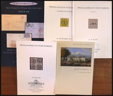 PHIL. LITERATUR Württemberg - Sonder- Und Spezialauktionen Von 1990-2006, 5 Verschiedene Kataloge - Philatelie Und Postgeschichte