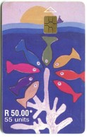 MU-MAU-0077F - Painting With Fishes, Issue 2001-01 (GEM5 Red) - Mauritius