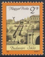 Hungary Ungarn 1986 Mi 3821 A YT 3037 ** Re-opening Buda Castle Cable Railway / Standseilbahn Auf Den Burgberg, Budapest - Treinen
