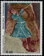 Andorra French, 1983, Archer - Roman Fresco Cortinada Church 1 Value MNH - Unclassified