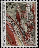 Andorra French, 1984, Georg, Fresco From Sant Cerni De Nagol Church 1 Value MNH - Unclassified