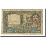 France, 20 Francs, 1941-08-28, TB, Fayette:12.17, KM:92b - 1871-1952 Anciens Francs Circulés Au XXème
