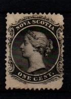 Nova Scotia One Cent Black White Paper. - Nova Scotia