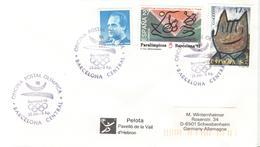 SPAIN Cover Pelota De La Vall D'Hebron With Olympic Cancel Barcelona - Summer 1992: Barcelona