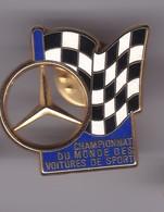 Pin's  CHAMPIONNAT DU MONDE VOITURES DE SPORTS MERCEDES SIGNE ARTHUS BERTRAND - Mercedes