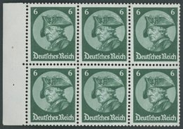 ZUSAMMENDRUCKE H-Bl. 74B 0 **, 1933, Heftchenblatt Fridericus, Unbedruckt, Pracht Mi.60.- - Zusammendrucke