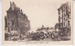 845 / PARIS HISTORIQUE ,  1830 ,Prise De L'Hôtel De Ville (tableau De Beaume Et Mozin ) - Arrondissement: 04