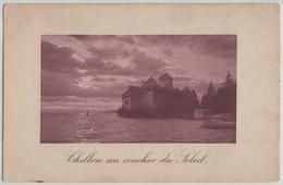 Chillon Au Coucher Du Soleil - Passepartout - Photo: Jullien Freres - VD Vaud