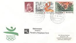SPAIN Cover Balonmano Femenico Pavello L'Hospitalet Nord = Handball Women With Cancel Hospitalet Barcelona - Summer 1992: Barcelona