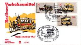 "(Bu-B1) WB Sonderumschlag MiF WB Mi 446,448,450 ""Berliner Verkahrsmittel"" SSt. 13.5.1973 BERLIN 12 - Bus"