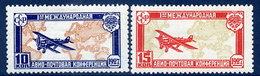 SOVIET UNION 1927 International Airmail Conference Set LHM / *.  Michel 326-27 - 1923-1991 USSR