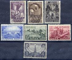 SOVIET UNION 1932 October Revolution Set LHM / *.  Michel 414-20 - Unused Stamps