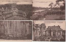 Lot 4 CPA Cambodge Angkor Vat Cour Du 2ème étage, Perron D'honneur, Non Circulées - Cambodia