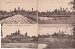 Lot 4 CPA Cambodge Angkor Vat Vues Sur Le Temple, Non Circulées - Cambodia