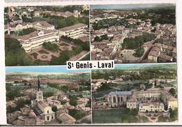 St Genis-Laval: ; Vues Aériennes, Hôpital, L'église, Frères Maristes, N.D Du Montet, Vue Panoramique - - Autres Communes