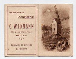 Bègles (33 Gironde) Calendrier 1951 C WIDMANN Patisserie Confiserie (PPP13427) - Calendars