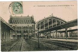 CPA, Tourcoing, Le Nouvelle Gare, Le Hall Et Les Quais (pk48205) - Tourcoing