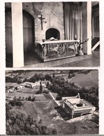 Eveux Sur L'Arbresle: 2 Cartes: Vue Aérienne Du Couvent Dominicain Et Centre St Dominique, La Tourette - Chapelle - - L'Arbresle