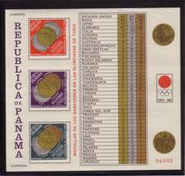 Olympics 1964 - Medals - PANAMA - Sheet MNH - Summer 1964: Tokyo